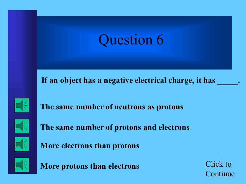 Click to Continue Question 5 Which measure the strength of an electric current.