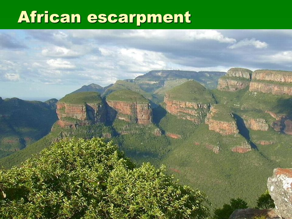 African escarpment