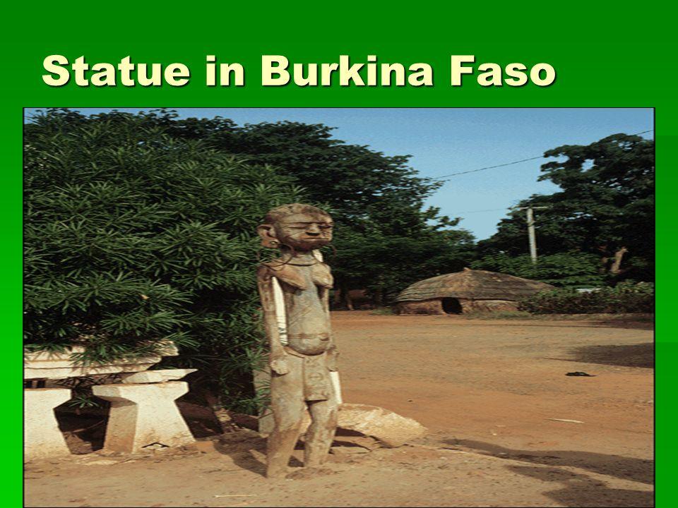 Statue in Burkina Faso