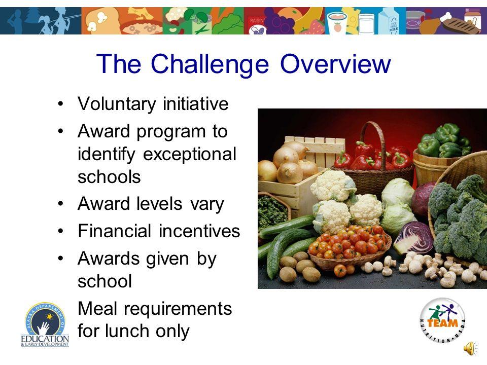 HealthierUS School Challenge Production Records