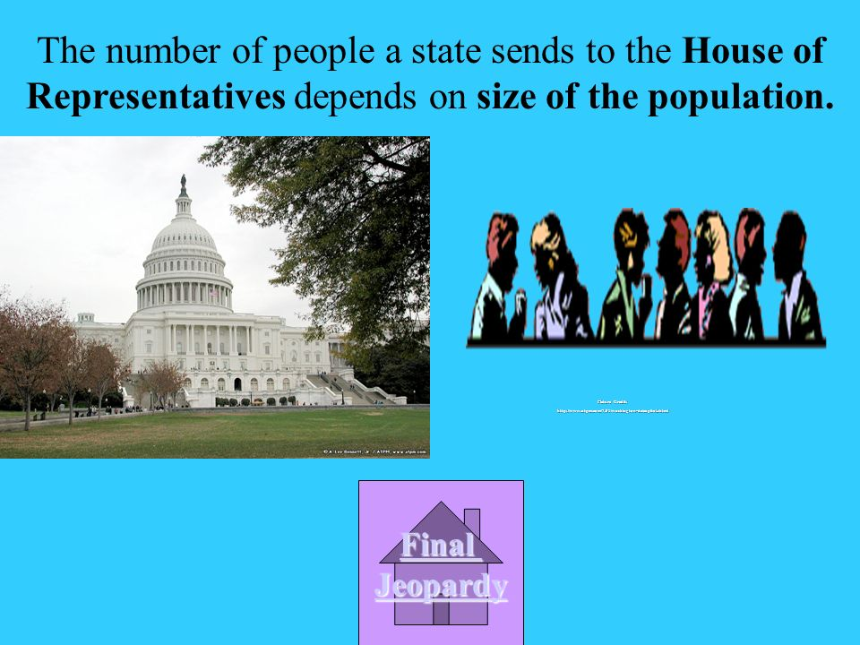 The number of people a state sends to the House of Representatives depends on __________________________.