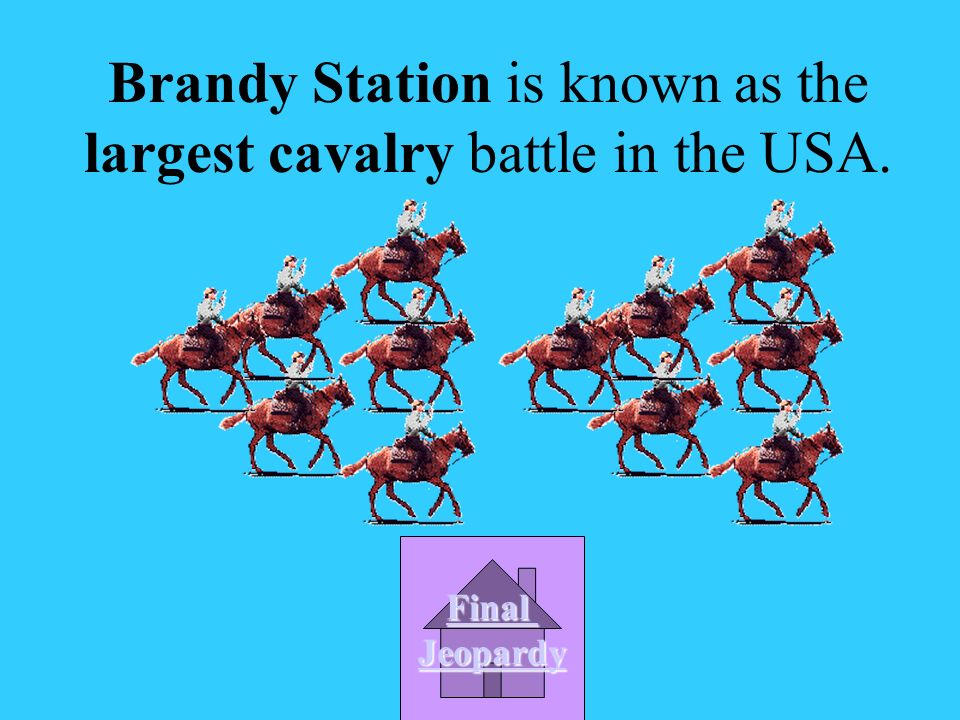 Which battle is known as the largest cavalry battle in the USA.