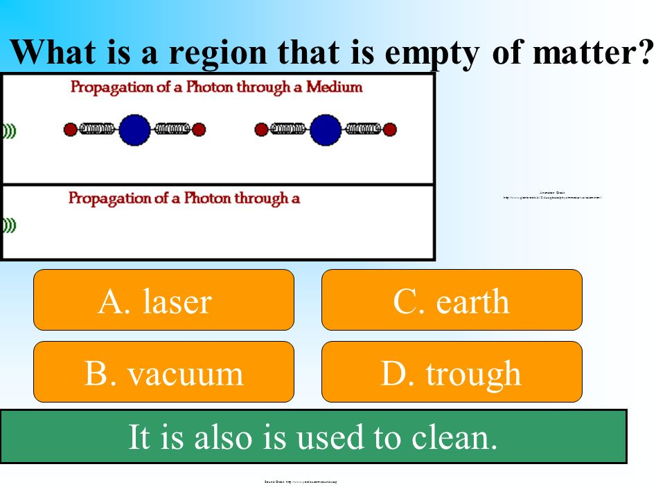 What is a region that is empty of matter. 50:50 Give Hint.