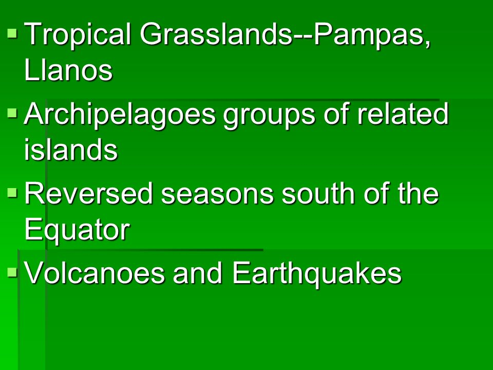 Physical Features Major Mountain ranges Major Mountain ranges Andes Mountains Andes Mountains Sierra Madre Mountains-- Oriental and Occidental Sierra