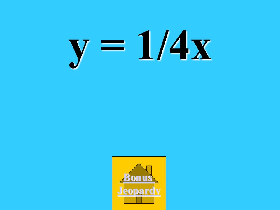 What is the slope-intercept form of the equation of the line with slope 1/4/ and y-intercept at the origin? A. y = 4x B. y = x + 1/4 D. y + 1/4 = x C.