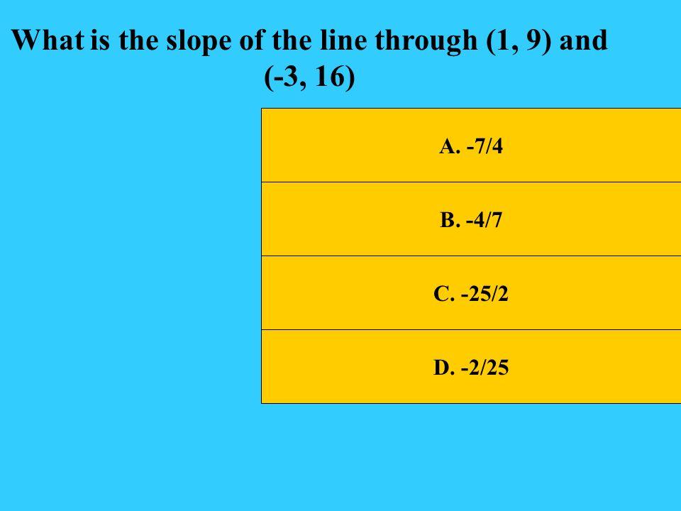 A.-2x + 3y = 23 B. 2x +3y = 19 C.