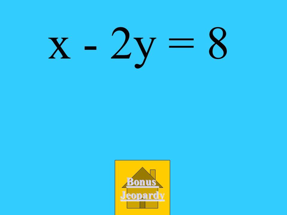 What is the standard form of y + 2 = 1/2(x - 4)? A. x - 2y = 8 B. x + 2y = 0 C. 2x - y = 10 D. 4x - 2y = 0