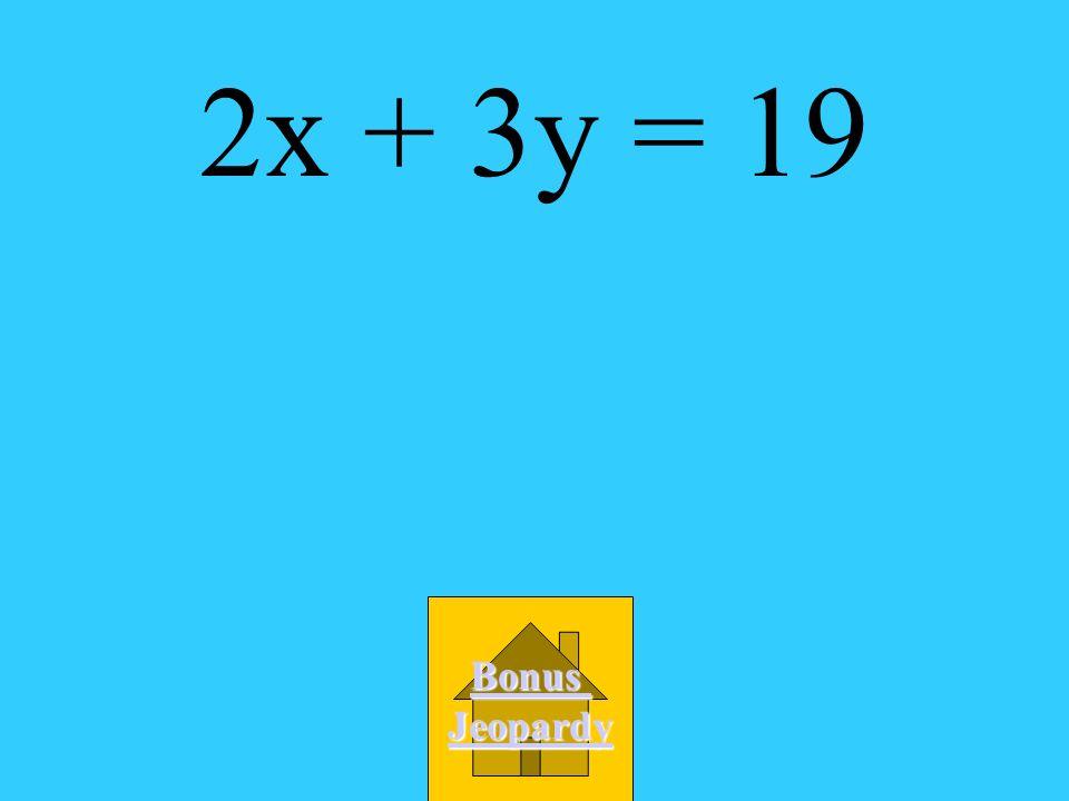 A. -2x + 3y = 23 B. 2x +3y = 19 C. -3x + 2y = 17 D 3x +2y = 11 What is the standard form of y - 7 = -2/3(x + 1)?