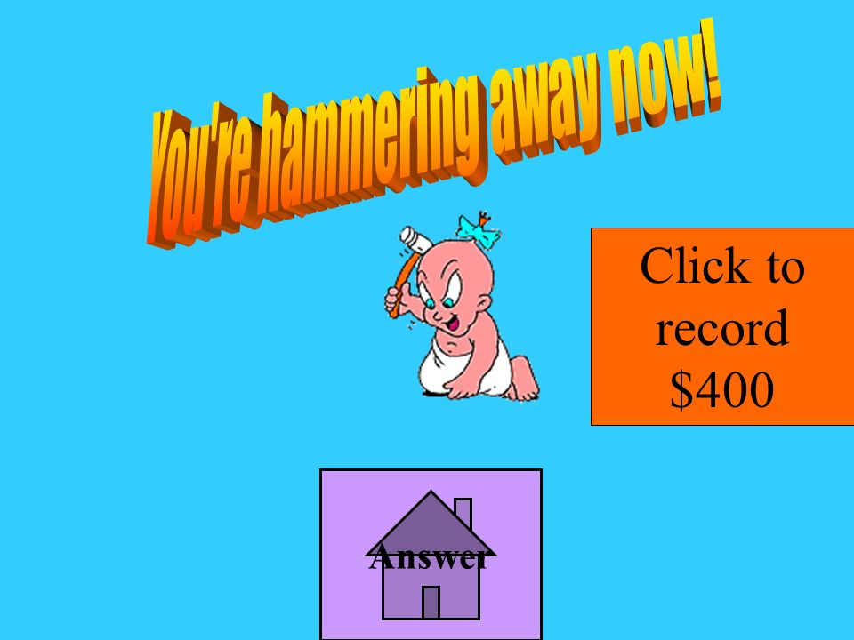 Answer Click to record $400