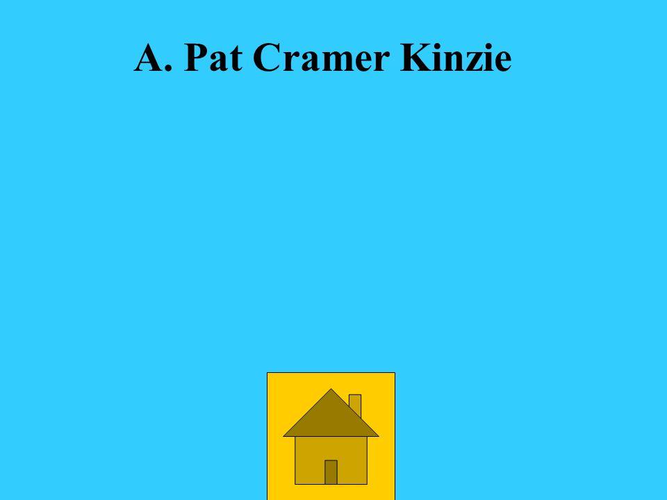 Who was the Q101 $10,000 fugitive. A.Pat Cramer KinziePat Cramer Kinzie D.