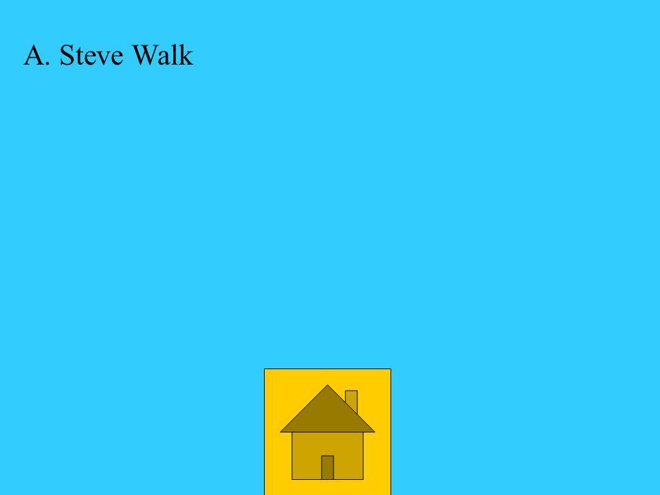 A Steve Walk Who was a school psychologist? D. Tim Woodward C. Phil Judd B Lisa Millikin