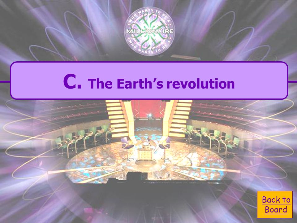 C. The Earths C. The Earths revolution. What causes the seasons.