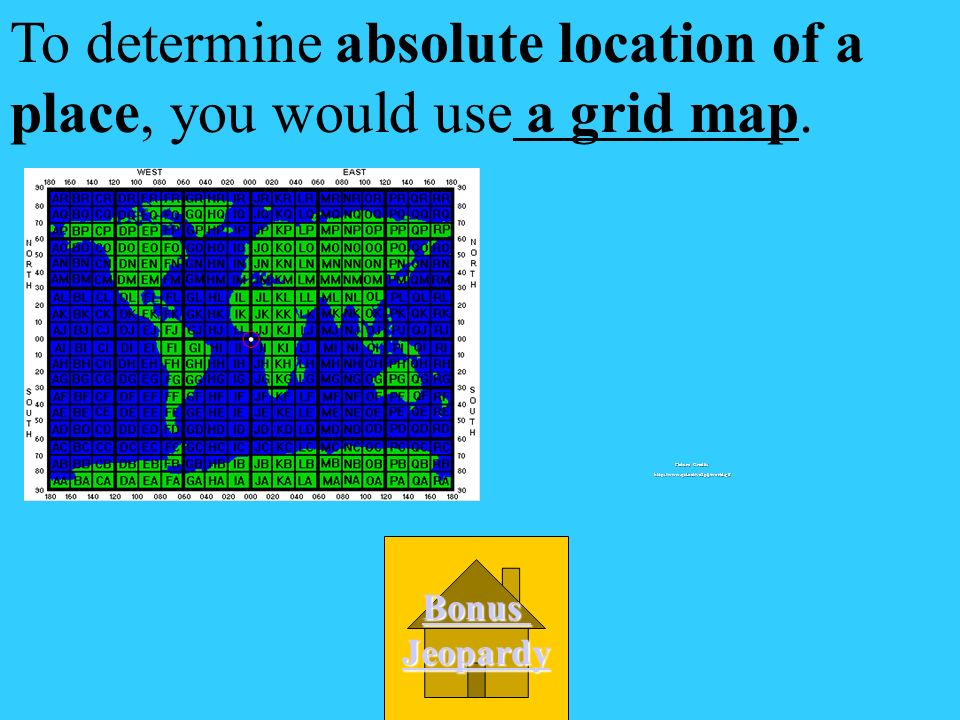 To determine absolute location of a place, you would use __________.
