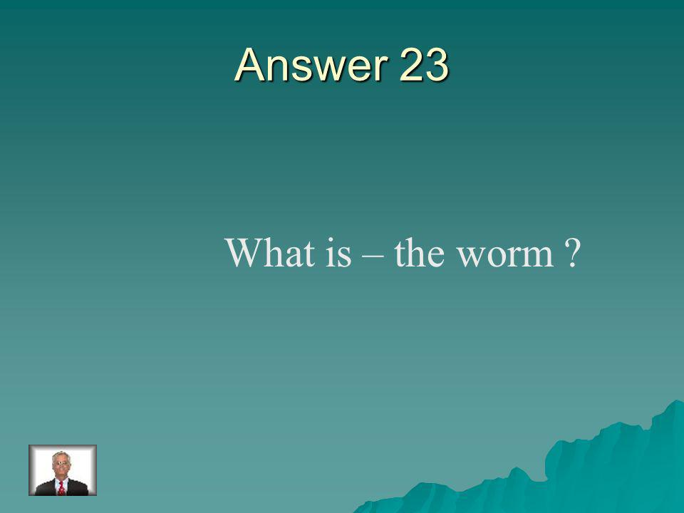 Question 23 The invertebrate which can be round, flat, or segmented.