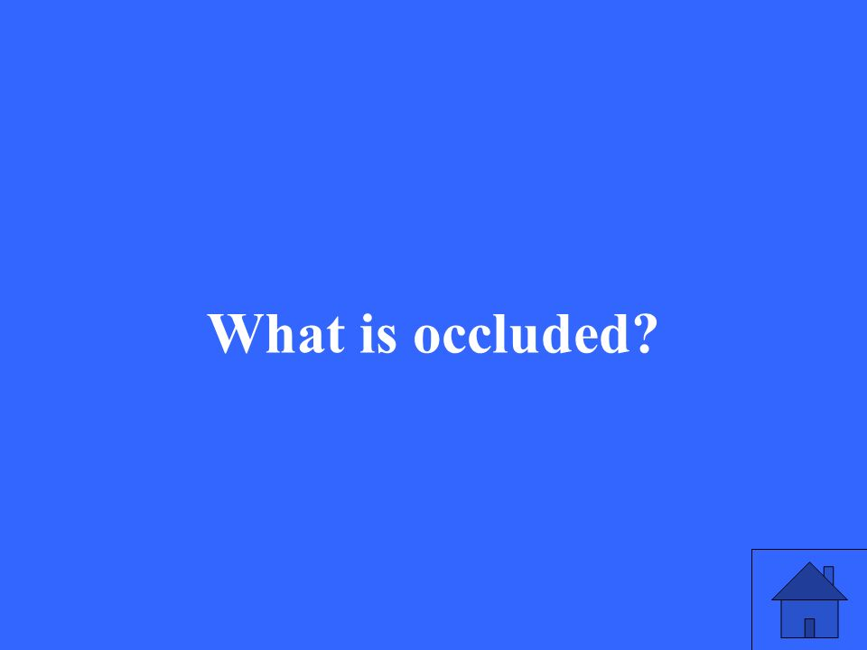 What is occluded