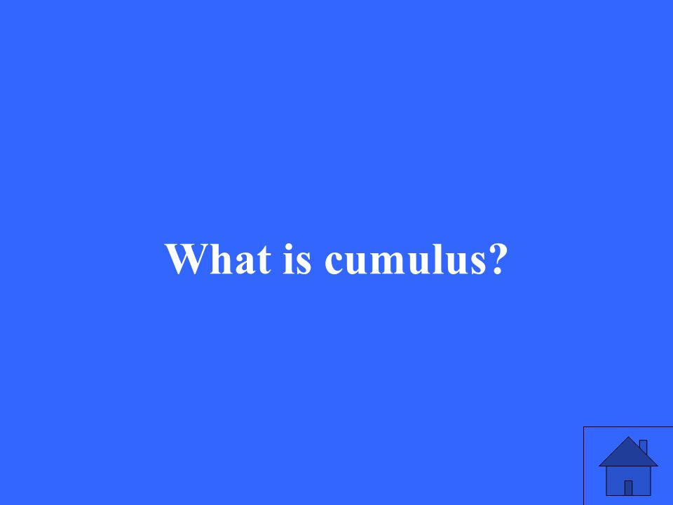 What is cumulus