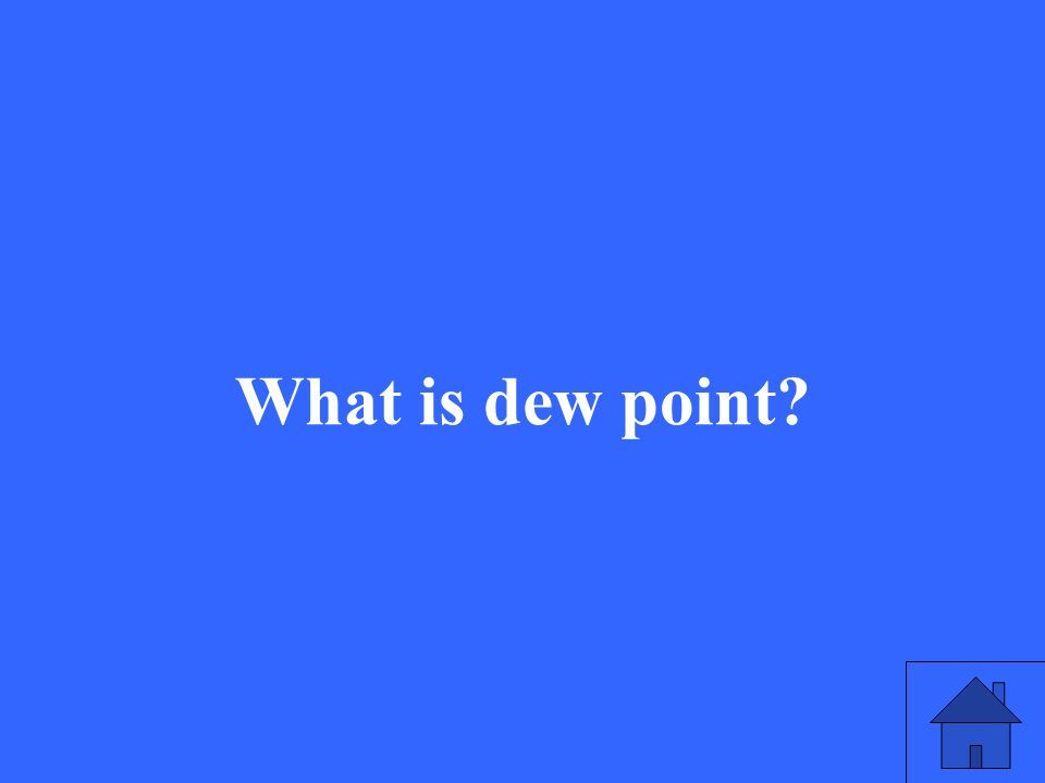 What is dew point