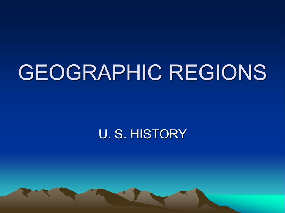 Name the 8 geographic regions of the U.S. beginning on the East Coast.