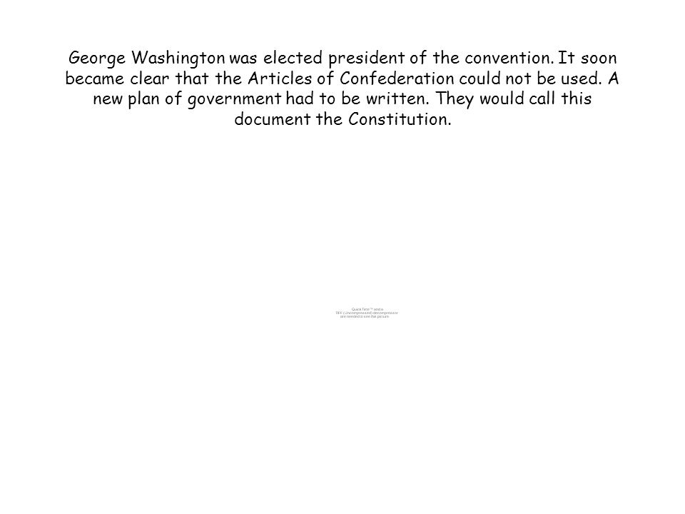 George Washington was elected president of the convention.
