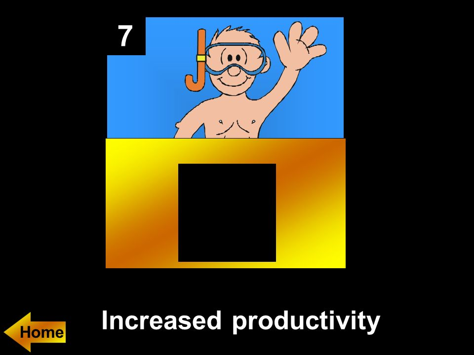 7 Increased productivity