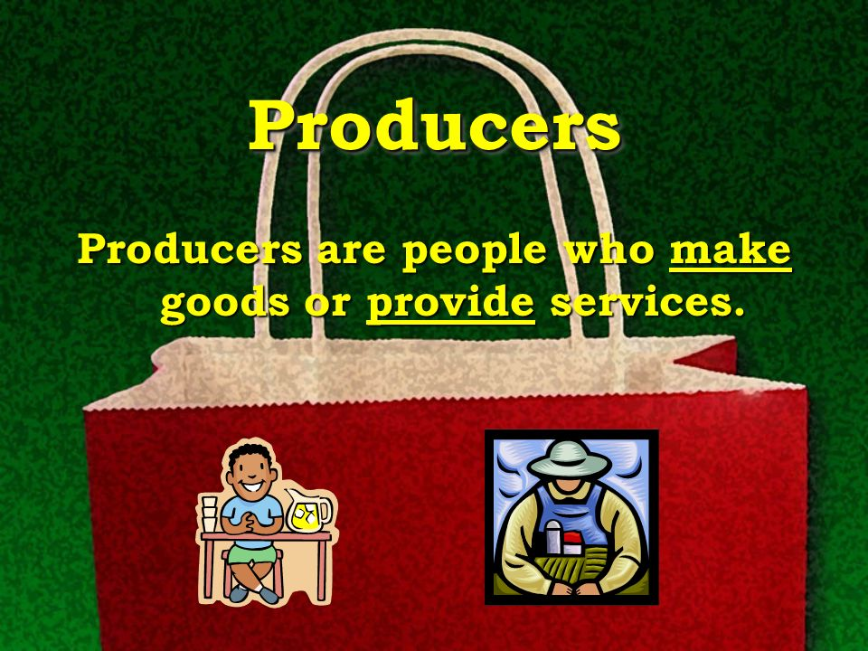 Consumers Consumers Consumers are people who use goods and services.
