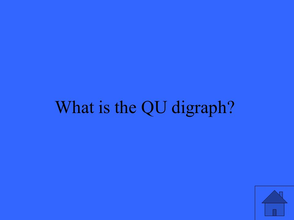 21 What is the QU digraph?