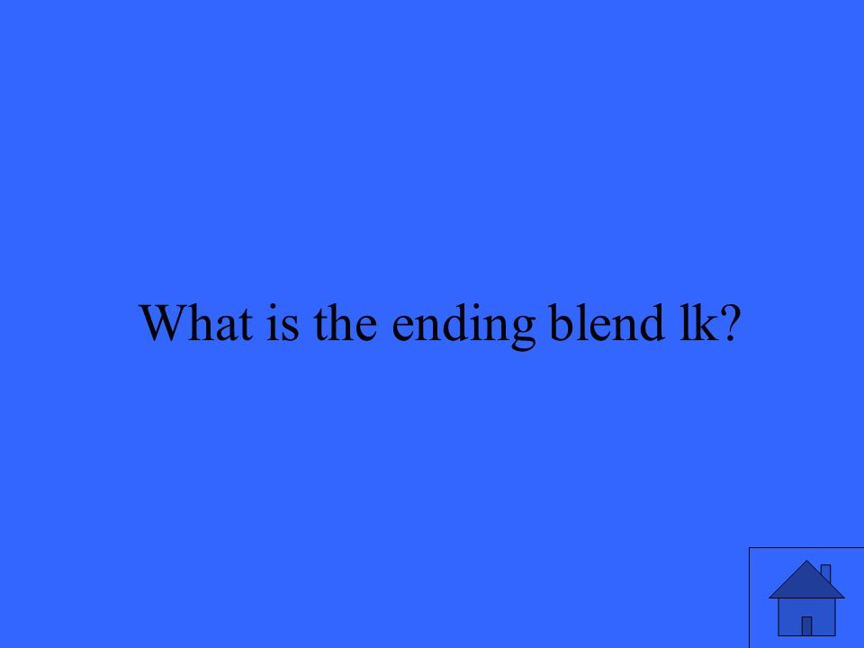 43 What is the ending blend lk?