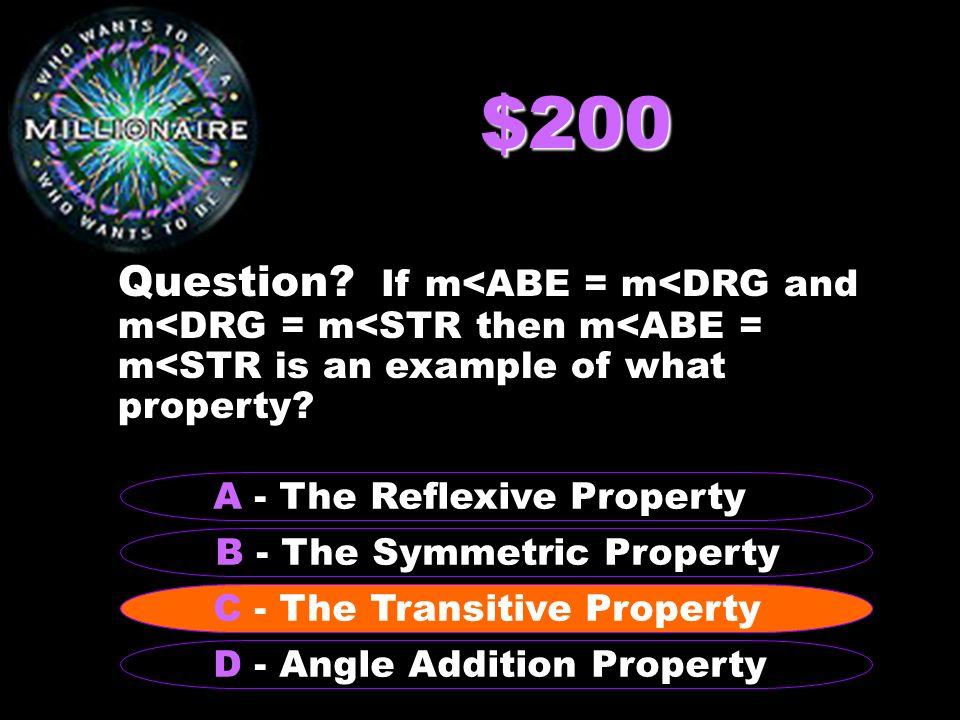 $500,000 Question.