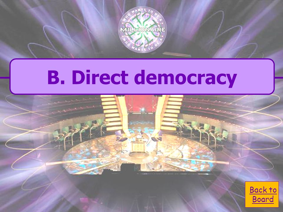 B. direct democracy Greece gave us what form of government.