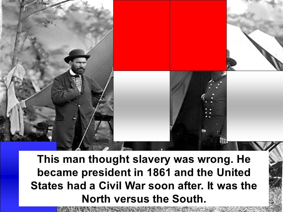 This man thought slavery was wrong.