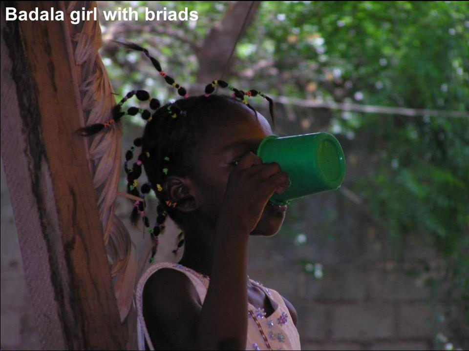 Badala girl with briads