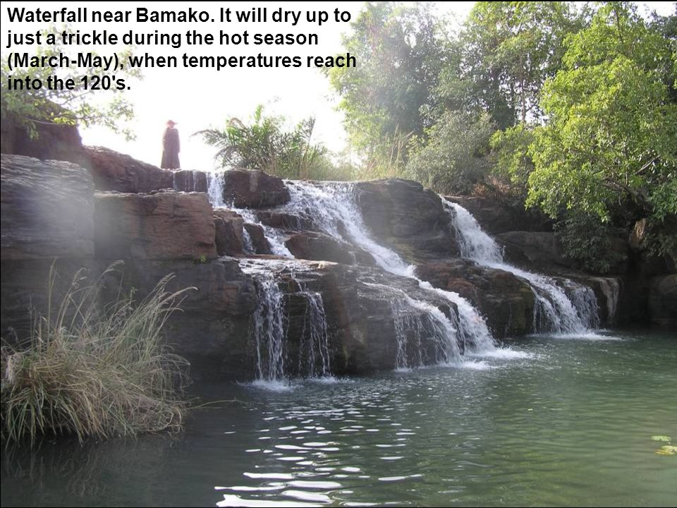 Waterfall near Bamako.