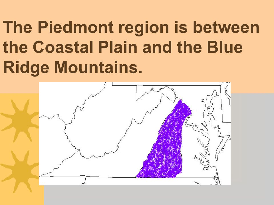 SOL VS.2a, 2b, 2c, 10b What are the characteristics of the Piedmont.