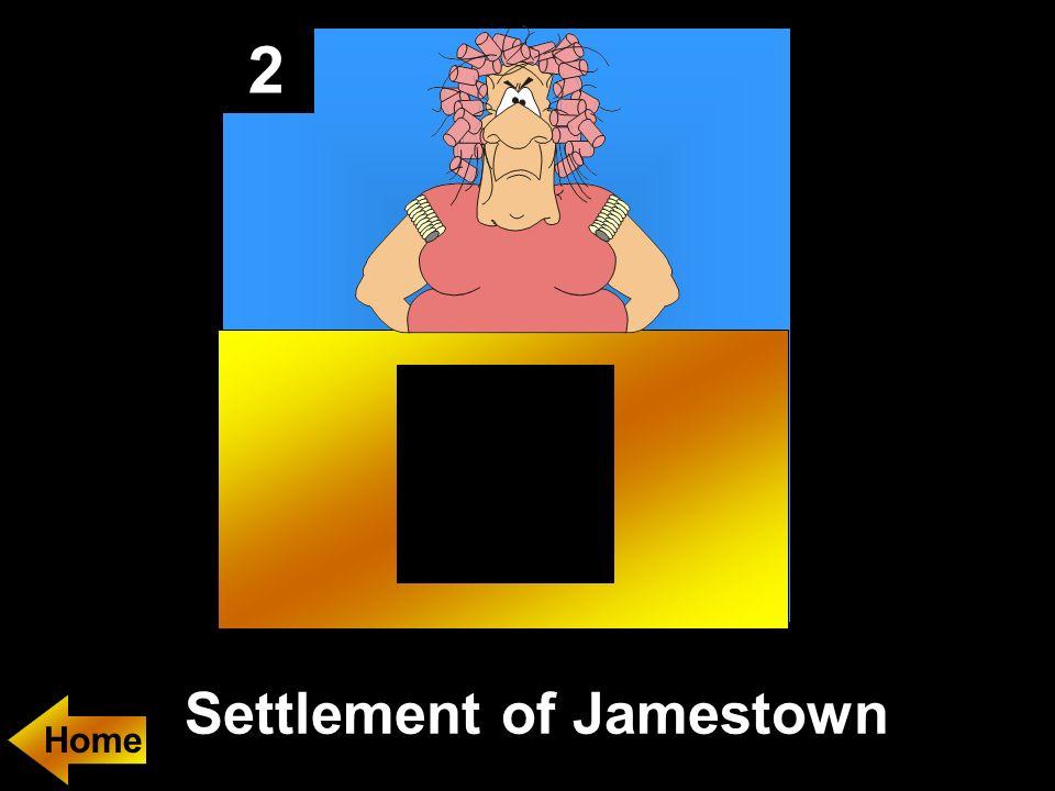 2 Settlement of Jamestown