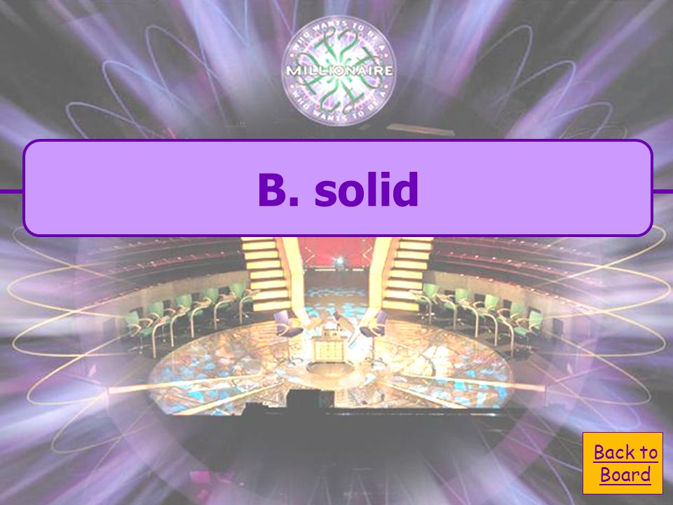A. color C. size D. shape B. solid Which of these is not a property of matter