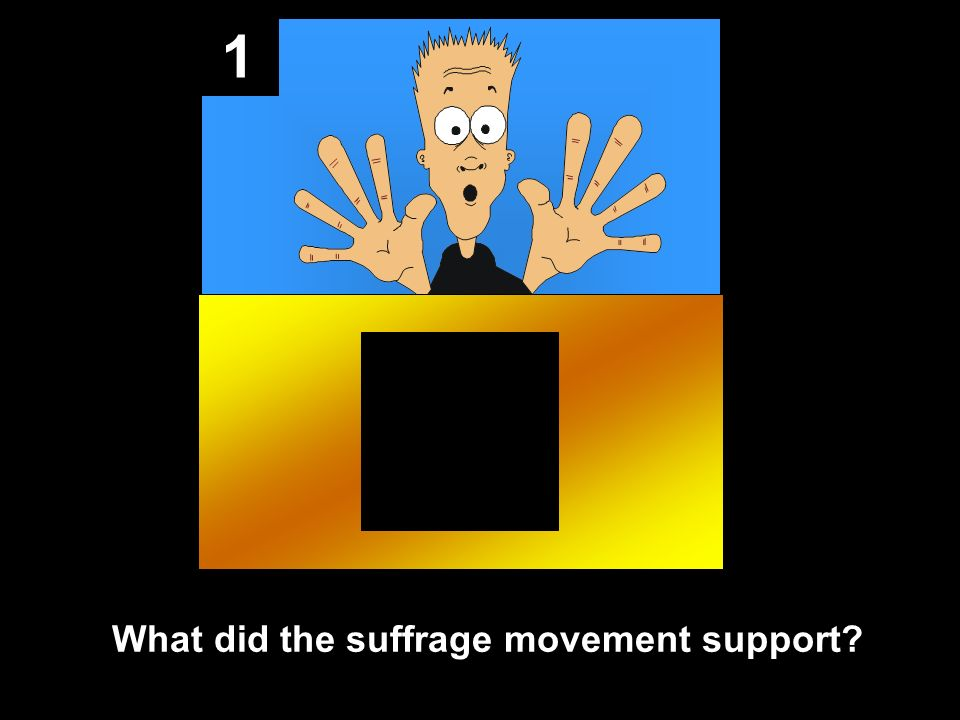 1 What did the suffrage movement support?