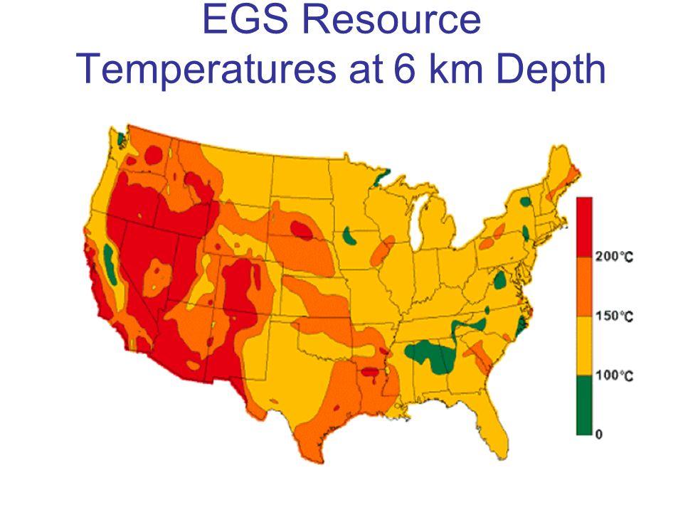 EGS Resource Temperatures at 6 km Depth