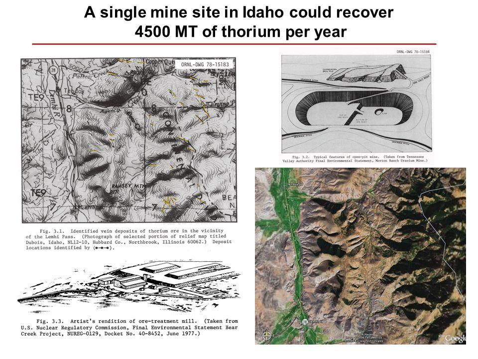 A single mine site in Idaho could recover 4500 MT of thorium per year