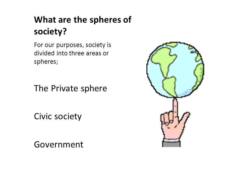 What are the spheres of society.