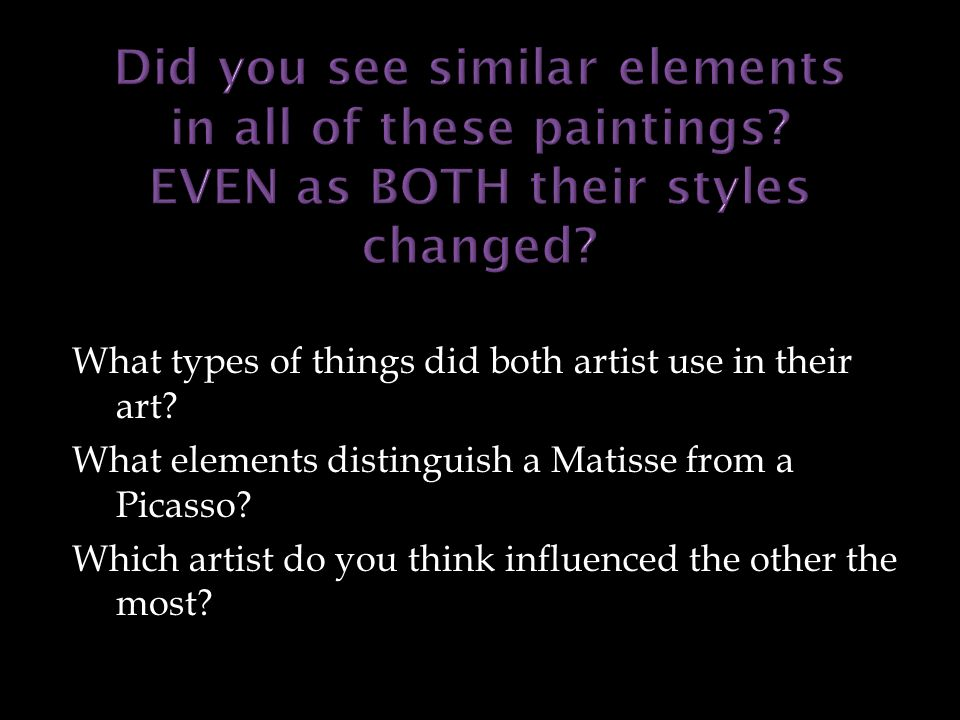 What types of things did both artist use in their art.