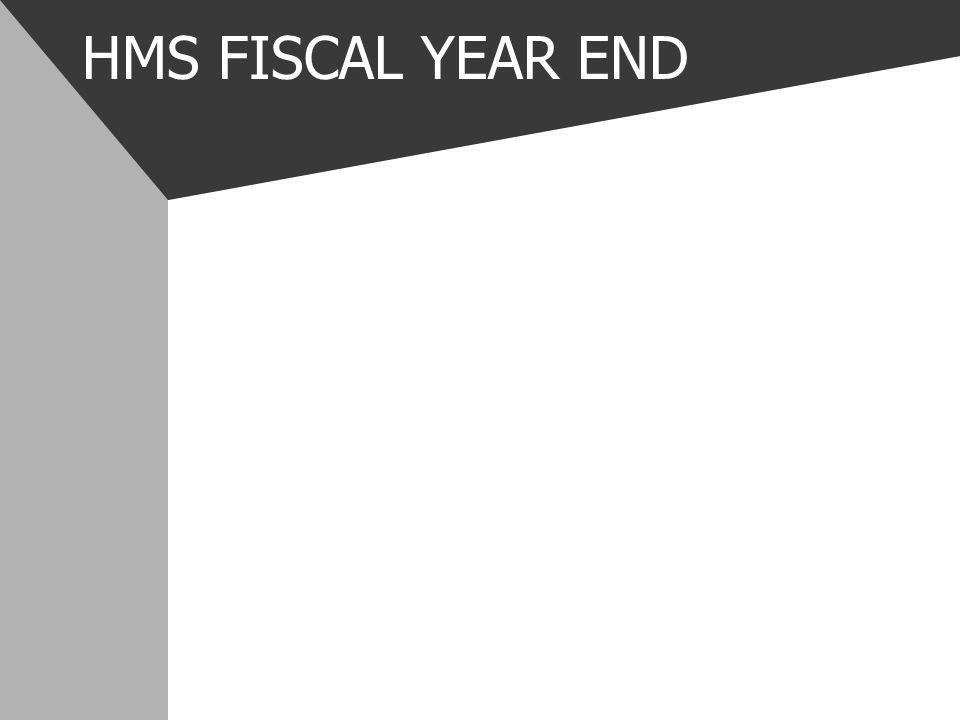 HMS FISCAL YEAR END
