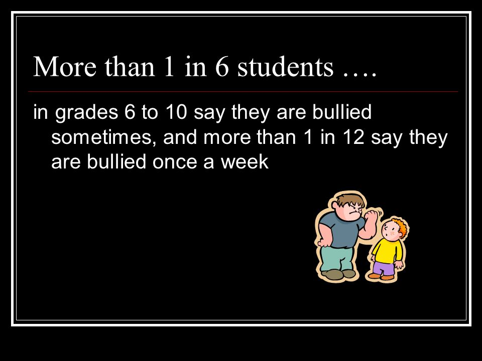 More than 1 in 6 students ….