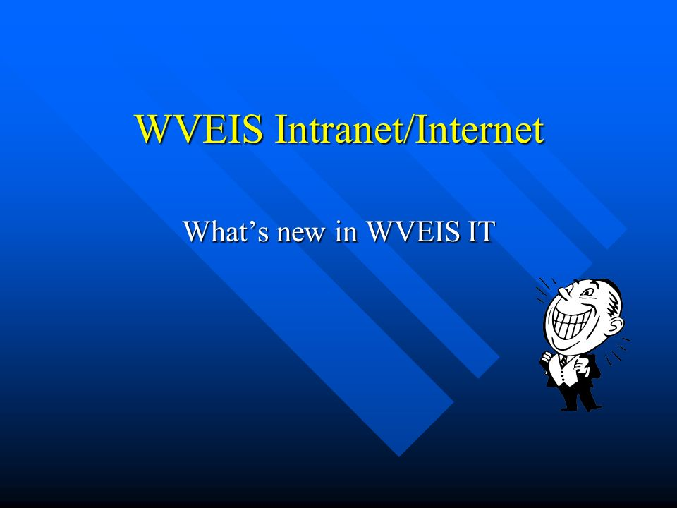 WVEIS Intranet/Internet Whats new in WVEIS IT