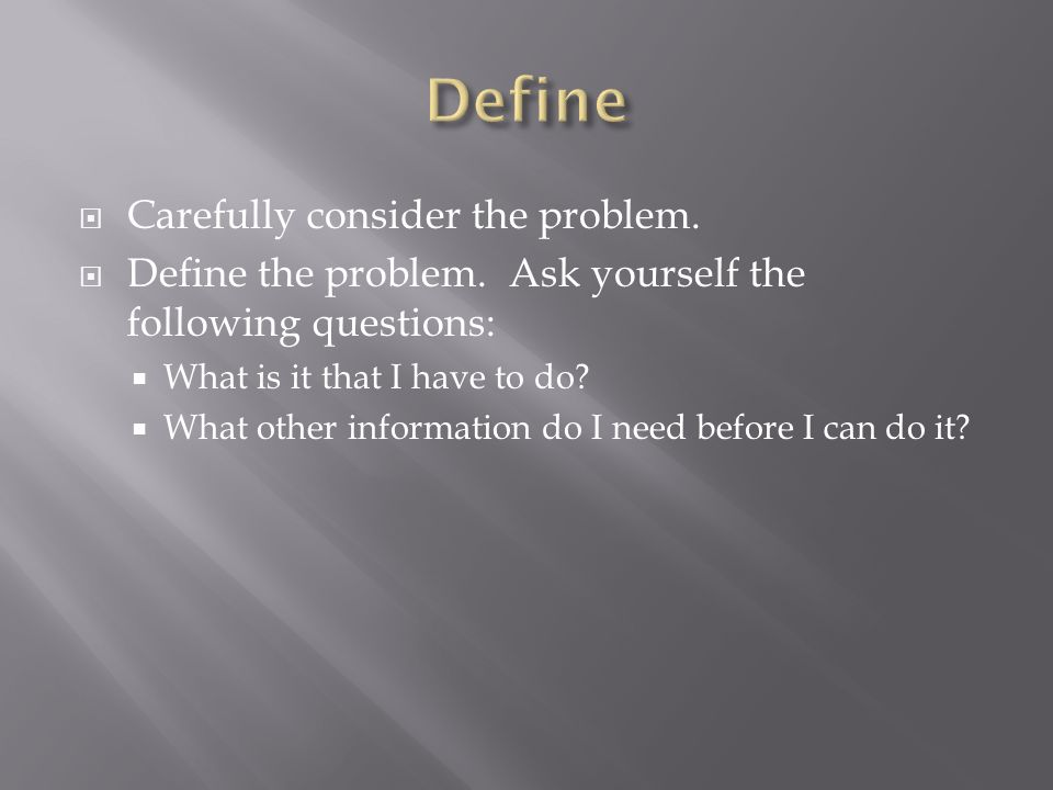 Carefully create a step by step plan of action to solve the problem.