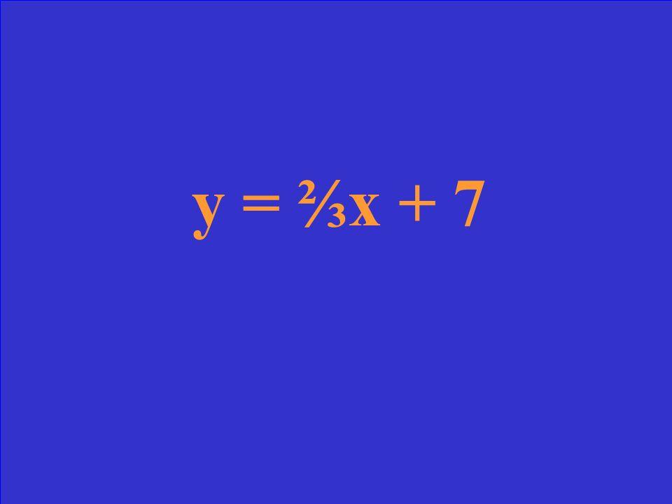 Slope = y-intercept = 7