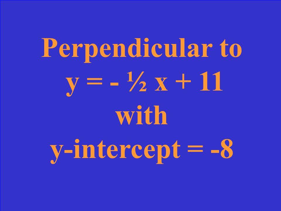 y = -x + 4