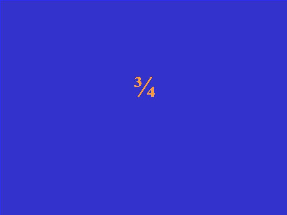 y = ¾x + 2