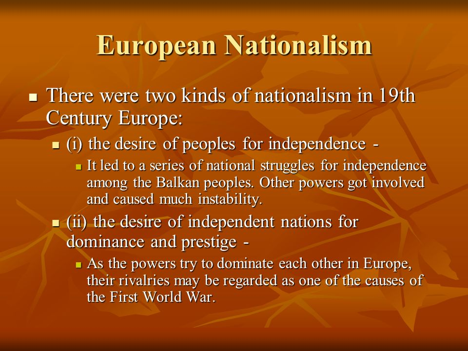 nationalism in europe 19th century Nationalism in 19th century print the to free france from the restrictions of the peace settlements on 1814-1815 and to make france the chief arbiter of europe.