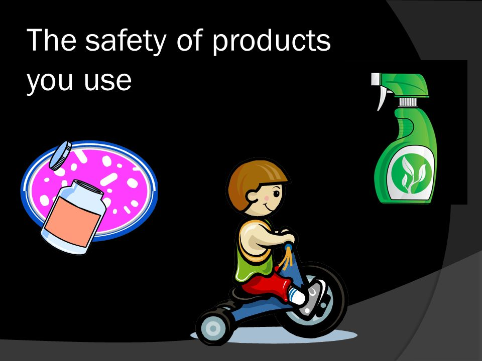 The safety of products you use