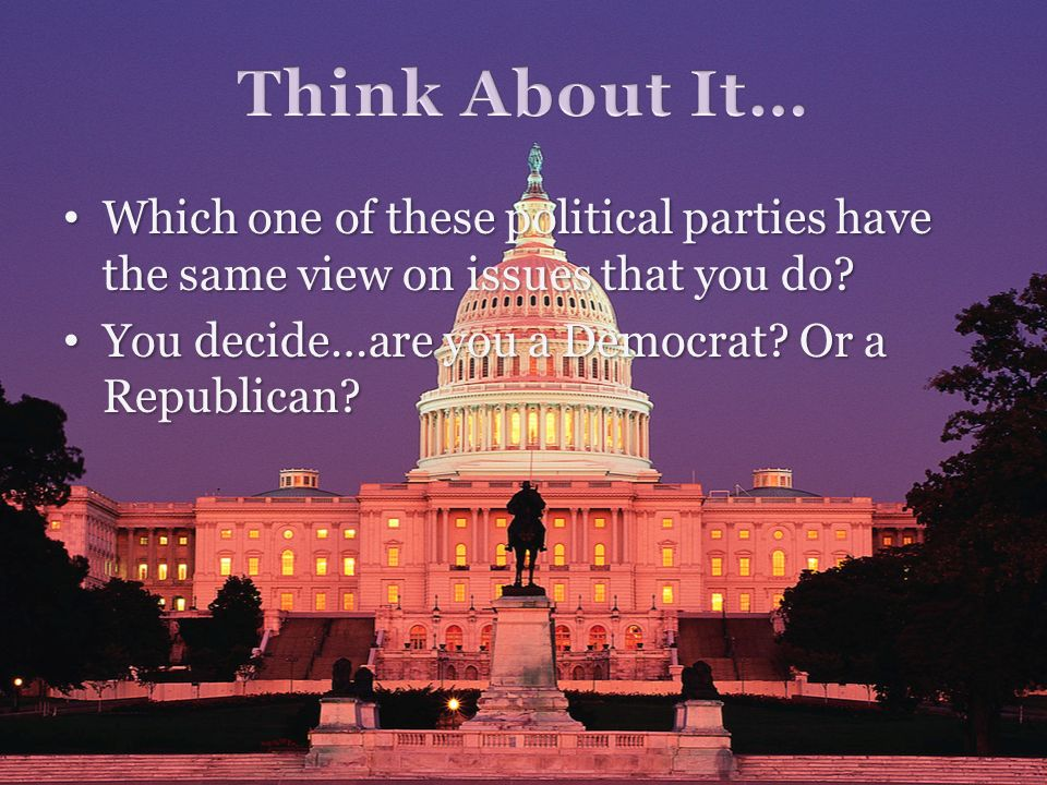 Which one of these political parties have the same view on issues that you do? Which one of these political parties have the same view on issues that
